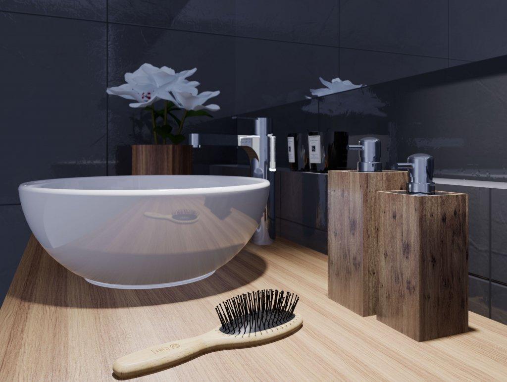 Quelques accessoires en bois pour décorer votre salle de bains