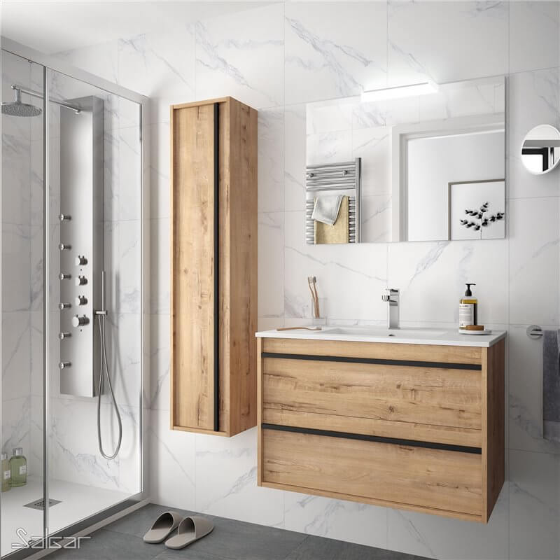 Mobilier de salle de bains en bois Salgar - Partenaire Avéo