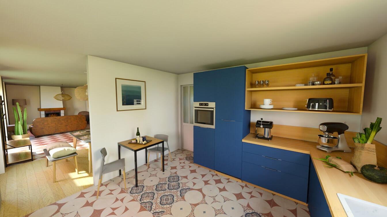 Rénovation de cuisine par Avéo à le Vieux Boucau les Bains